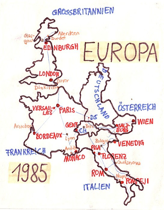 Interrail Karte 1985