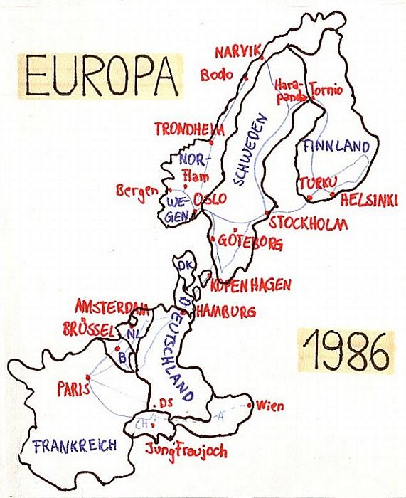 Interrail Karte 1986