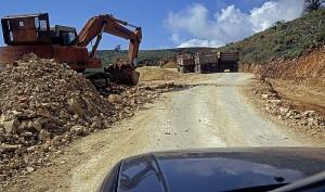 Albanische Straßenbaustelle