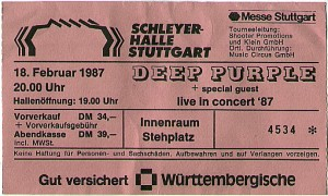 Deep Purple Stuttgart 1987