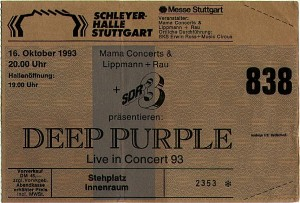 Deep Purple Stuttgart 1993