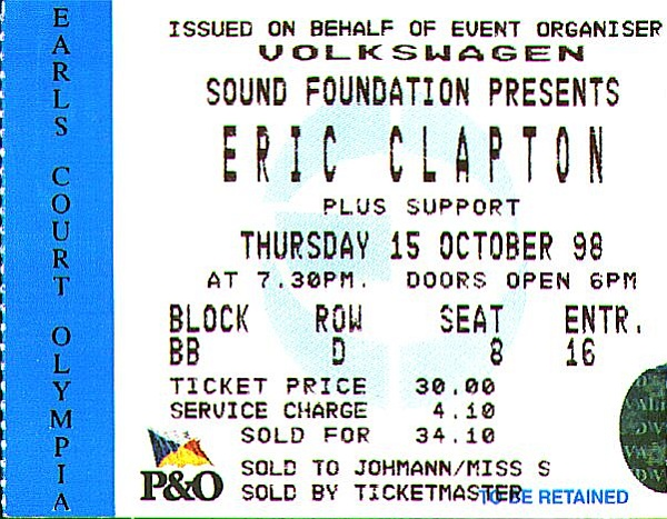 Earl's Court: Eric Clapton