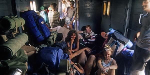 Griechenland 1988: Im Gepäckwagen