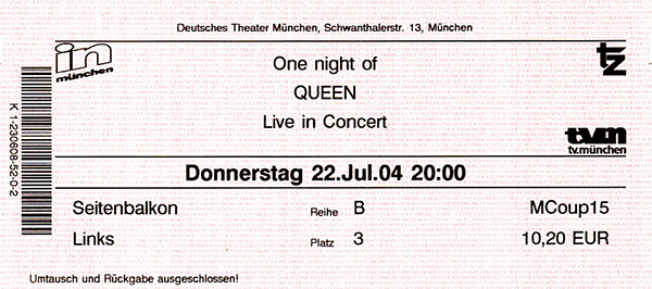 "Deutsches Theater: ""One Night of Queen - Live in Concert"""