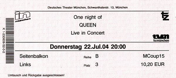 """Deutsches Theater: """"One Night of Queen - Live in Concert"""""""