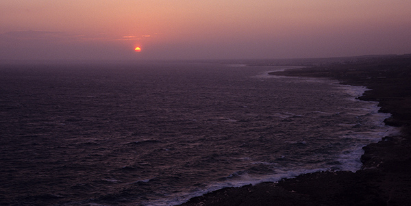 Sonnenuntergang am Kap Greco