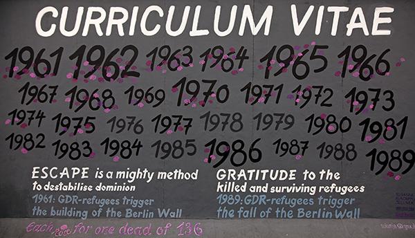 "East Side Gallery - Susanne Kunjappu-Jellinek: ""Curriculum Vitae"""