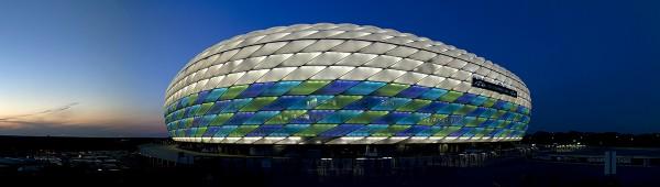 Die Allianz Arena als Fußball Arena München