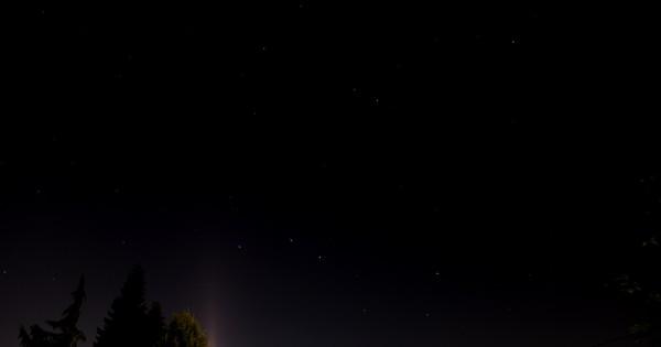 Sternenhimmel (mit Großem Wagen) (Belichtungszeit: 58 s)