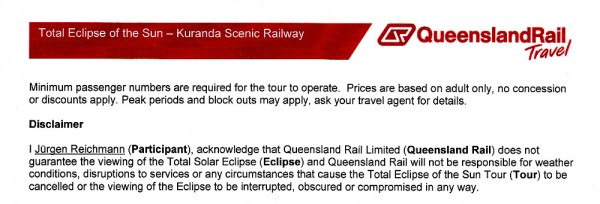 Formular von Queensland Rail