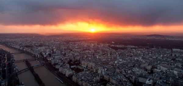 Blick vom Eiffelturm - Sonnenuntergang