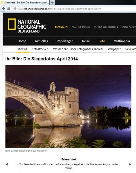 Webseite von National Geographic Deutschland