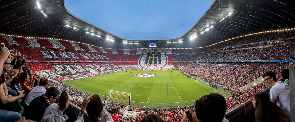 Allianz Arena München, 12. Mai 2015, Fan-Choreografie