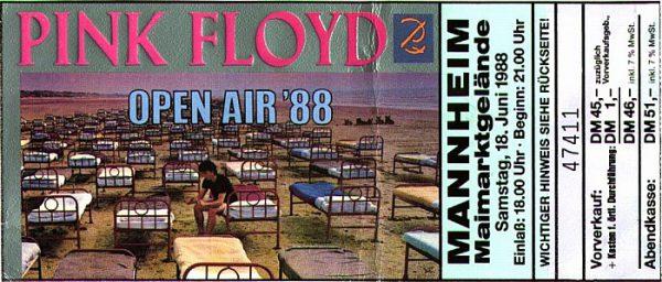 Pink Floyd, Maimarktgelände Mannheim, 18. Juni 1988