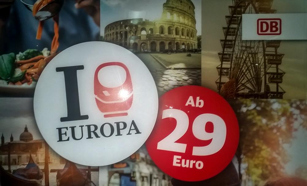 Werbeplakat Deutsche Bahn