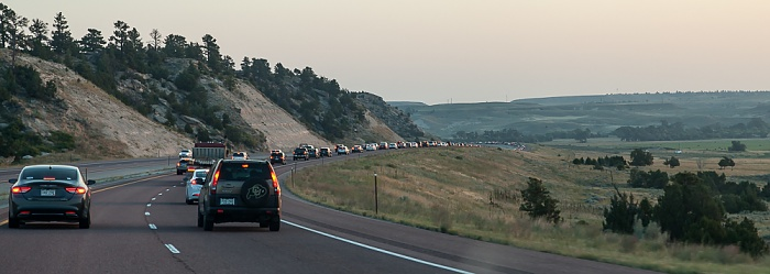 Interstate 25 Cheyenne - Glendo, 8 Kilometer vor Glendo